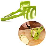 cheap Dinnerware-1pc Kitchen Utensils Tools Plastic Home Kitchen Tool Novelty DIY Cutter & Slicer Salad Tools Fruit Vegetable Egg