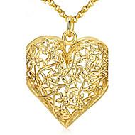 Dame Kvadratisk Zirconium Guldbelagt Halskædevedhæng - Kvadratisk Zirconium Guldbelagt Kærlighed Halskæder Til