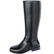 メンズ 靴 化繊 冬 秋 カーボーイ/ウエスタンブーツ ファッションブーツ オートバイ用ブーツ ブーツ ニーハイブーツ のために カジュアル パーティー ブラック