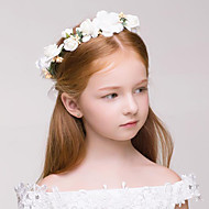 cheap Flower Girls' Accessories-Fabric Plastic Wreaths 1 Wedding Special Occasion Outdoor Headpiece