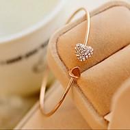 Mulheres Pulseiras Algema Coração bijuterias Estilo bonito Moda Estilo simples Strass Formato de Coração Jóias Para Casamento Festa