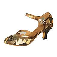 """billige Moderne sko-Dame Moderne Salsa Kunstlær Sandaler Innendørs Ytelse Trening Nybegynner Profesjonell Stiletthæl Gyldenbrun 2 """"- 2 3/4"""" Kan ikke"""