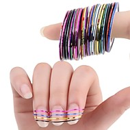 Abstract - Vinger / Teen - 3D Nagelstickers / Folie Strippen Tape / Andere versieringen - Andere - 10Pcs/Set - stuks 4.5*4.5*3 - (cm)