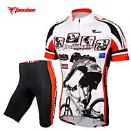 TASDAN Muškarci Kratkih rukava Biciklistička majica s kratkim hlačama - Crn Bicikl Kratke hlače Biciklistička majica Kompleti odjeće, Pad