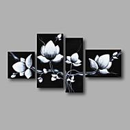 Håndmalte Abstrakt / Blomstret/BotaniskModerne Fire Paneler Lerret Hang malte oljemaleri For Hjem Dekor
