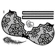 billiga Temporära tatueringar-1 pcs Spets Annat Temporära färger