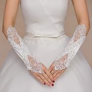 K lokti Bez prstů Rukavice Satén Krajka Pro nevěstu Party rukavičky Flitry Korálky Výšivka