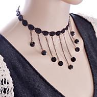 Coliere Coliere Choker / Torțe / Bijuterii Gothic Bijuterii Halloween / Nuntă / Petrecere / Zilnic / Casual Dantelă / Material Textil