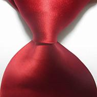 halpa -miesten juhla / ilta punainen pilkullinen jacquard kudottu solmuke solmio