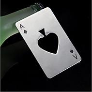 maça poker çubuk aracı şişe soda, bira kapağı açacağı hediye ve oynama kart ace