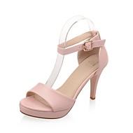 tanie Small Size Shoes-Damskie Derma Lato Bez pięty Szpilka / Platforma Biały / Czarny / Różowy / Impreza / bankiet / Impreza / bankiet