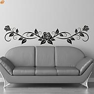 Romantika / Moda / Cvjetnih Zid Naljepnice Zidne naljepnice,PVC M:23*100cm / L:35*150cm