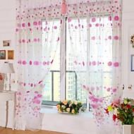 halpa -Rypytysnauha One Panel Window Hoito Kantri , Painettu Living Room Polyesteri materiaali Läpinäkyvät verhot Shades Kodinsisustus