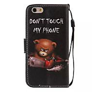 Case Kompatibilitás Apple iPhone 6 Plus / iPhone 6 Pénztárca / Kártyatartó / Állvánnyal Héjtok Szó / bölcselet Kemény PU bőr mert iPhone 6s Plus / iPhone 6s / iPhone 6 Plus
