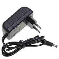 billige belysning Tilbehør-eu plugg 12v 1a 5,5 x 2,1 mm ledet stripe lys / CCTV sikkerhet kamera monitor strømadapter dc2.1 AC100-240V