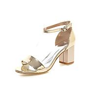 お買い得  特別セール-女性用 靴 レザーレット 夏 チャンキーヒール のために ドレスシューズ シルバー レッド ピンク ゴールデン