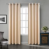 To paneler Window Treatment Neoklassisk Rokoko Barokk Europeisk Designer Rustikk Moderne , Solid Soverom Polyester Materialegardiner
