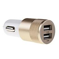 2.1a 1.0a hliník 2 USB porty univerzální USB nabíječka do auta pro telefon 5 6 6 plus pro iPad 2 3 4 5