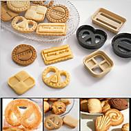 tanie Narzędzia Cookie-4szt koło serca kwadratowy retangle foremki do ciastek stempli cale mold