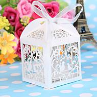 50pcs / lot λέιζερ κοπεί γάμο πουλί ευνοεί μπομπονιέρες γλυκά μωρό κουτί δώρα ντους διακοσμήσεις προμήθειες