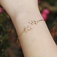 Žene Široke narukvice Moda Simple Style Europska Legura Leaf Shape Jewelry Božićni pokloni Dnevno Kauzalni Nakit odjeće