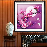 новый 5d цветы магнолии украшение дома поделок картины комплект вышивки круглый бриллиант картины вышивки крестом наклейки алмаз