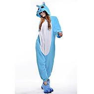 Kigurumi Pyjamas Flodhest Heldragtskostumer Pyjamas Kostume Polarfleece Lyserød Blå Cosplay Til Voksne Nattøj Med Dyr Tegneserie Halloween