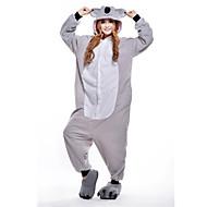 Kigurumi Pijamalar Koala Strenç Dansçı/Tulum Festival / Tatil Hayvan Sleepwear Halloween Gri Kırk Yama Polar Kumaş Kigurumi İçin Unisex