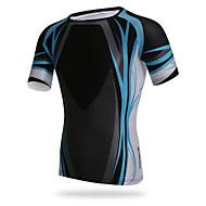 XINTOWN Męskie Krótki rękaw Koszulka rowerowa - Czarny Rower T-shirt Top Oddychający Szybkie wysychanie Odporność na promieniowanie UV Sport Elastyna Lycra Odzież / Wysoka elastyczność