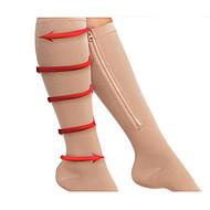 Mulheres Perneiras Meias Aquecedores de Pernas Modelador de Coxa Náilon Chinês Preto Cor Original