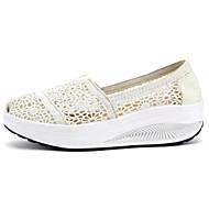 Damen-Loafers & Slip-Ons-Lässig-PU-KeilabsatzWeiß Schwarz