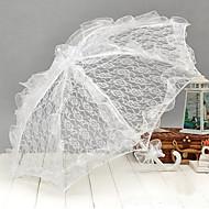 白いレースの結婚式の傘の庭のテーマの結婚式のアクセサリー