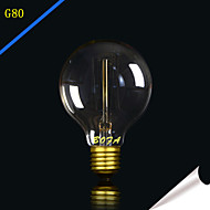 billige Glødelampe-1pc 25W 40W E27 E26/E27 E26 G80 Varm hvit 2300 K Glødende Vintage Edison lyspære 220V 85-265V