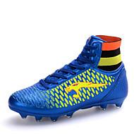baratos Sapatos de Tamanho Pequeno-Homens / Para Meninos Couro Sintético Primavera / Outono Conforto Futebol Antiderrapante Preto / Azul / Dourado