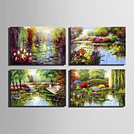 billiga Landskapsmålningar-Hang målad oljemålning HANDMÅLAD - Landskap Europeisk Stil Duk