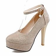 Χαμηλού Κόστους Γόβες ροζ χρυσό-Γυναικεία Παπούτσια Προσαρμοσμένα Υλικά Γκλίτερ Άνοιξη Καλοκαίρι Φθινόπωρο Βασική Γόβα Μονομάχου Πρωτότυπο Ανατομικό Τακούνι Στιλέτο