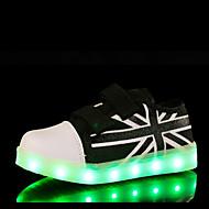baratos Sapatos de Menina-Para Meninos Para Meninas Sapatos Lona Inverno Primavera Verão Outono Conforto Inovador Tênis Sem Salto Vazados Colchete para Atlético