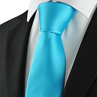 זול אביזרים לגברים-עניבה-חלק(כחול בהיר,פוליאסטר)