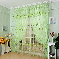 Stanglomme Et panel Window Treatment Land Stue Polyester Materiale Gardiner Skygge Hjem Dekor For Vindu