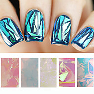 -Finger / Zehe-Andere Dekorationen-PVC-5pcs glass nail art foilsStück -5cmX20cm each piececm