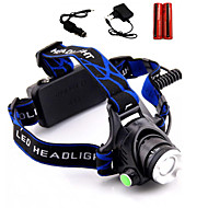 LS1791 Headlamps Headlight LED 2000 lm 3 Mode Cree XM-L T6 Adjustable Focus Impact Resistant Rechargeable Waterproof Strike Bezel Compact