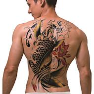tijdelijke tattoo (full back) - koi (2 stuks)