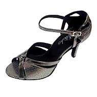 baratos Sapatilhas de Dança-Mulheres Sapatos de Dança Latina Sintético Sandália Salto Personalizado Sapatos de Dança Vermelho / Azul / Bronze / Interior