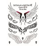 billiga Tatuering och body art-2 Tecknat Smyckeserier Djurserier Blomserier Totemserier tecknad serie Tatueringsklistermärken