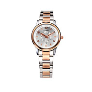 SINOBI Women's Wrist Watch Calendar / date / day / Water Resistant / Water Proof Alloy Band Casual / Fashion / Elegant Rose Gold / Two Years / Sony SR626SW