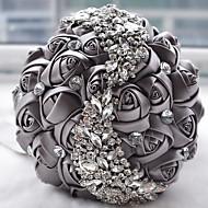 "cheap Wedding Flowers-Wedding Flowers Bouquets Wedding Bead Lace Silk Organza Satin 7.09""(Approx.18cm)"