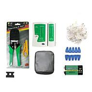 preiswerte Netzwerk Tester & Werkzeug-tragbaren Ethernet-Netzwerkkabel Tester Tools Kits Crimper Stripper rj45 Crimpstempel nach unten RJ11 CAT5 CAT6 Draht-Detektor