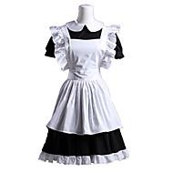 billiga Lolitamode-Gotisk Lolita Lolita Dam Piguniform Cosplay Vit Kortärmad Kort längd