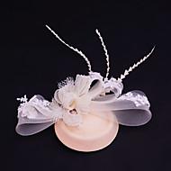 billiga Brudhuvudbonader-Spets Bergkristall Flanell Nät fascinators 1 Bröllop Speciellt Tillfälle Casual Utomhus Hårbonad