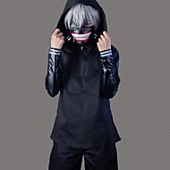 קיבל השראה מ טוקיו ר 'ול קן Kaneki אנימה תחפושות קוספליי חליפות קוספליי אחיד שרוול ארוך מעיל / עליון / מכנסיים עבור בגדי ריקוד גברים